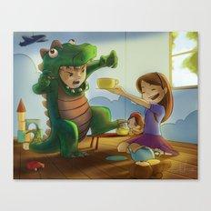 Tea-Riffic Play Time Canvas Print