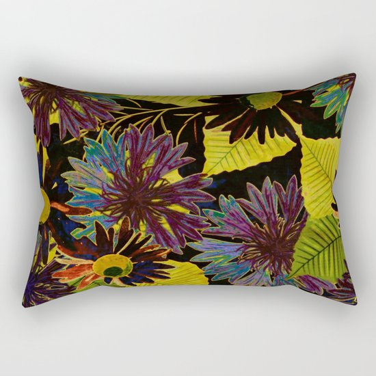 floral Africa Rectangular Pillow