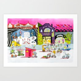 CYCLE CITY just before the parade Art Print