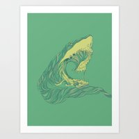 huebucket Art Prints featuring Escape by Huebucket