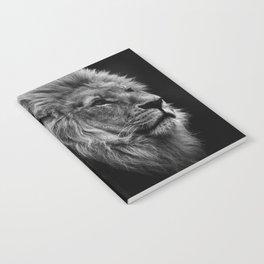 Black Print Lion Notebook