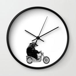 Harley Bear Wall Clock