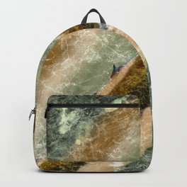 Marble Cactus Backpack
