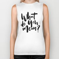 selena Biker Tanks featuring What do you mean? by eARTh
