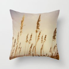 Beach Grass - Polaroid Throw Pillow
