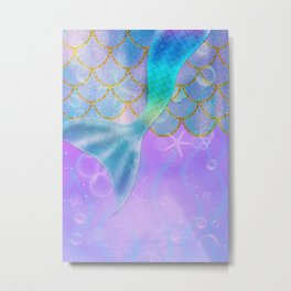 Mermaid Iridescent Shimmer Metal Print