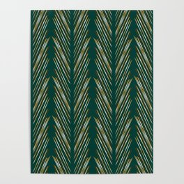 Wheat Grass Teal Poster