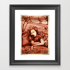 Ophelia - Hamlet - Shakespeare Folio Illustrations - Floral  Framed Art Print