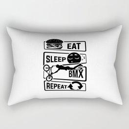 Eat Sleep BMX Repeat - Bike Cycling Stunt Bike Rectangular Pillow