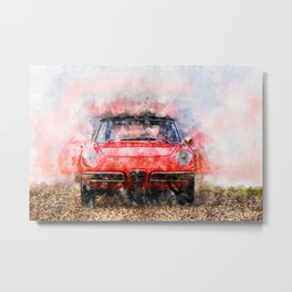 1968 Alfa Spider 1300 Duetto Metal Print