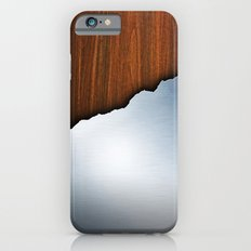 Wooden Brushed Metal iPhone 6s Slim Case