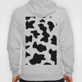 black and white ranch farm animal cowhide western country cow print Hoody