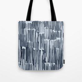 Simply Bamboo Brushstroke Indigo Blue on Sky Blue Tote Bag