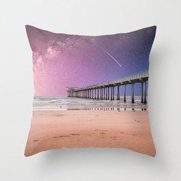 Pier into the Galaxy Throw Pillow