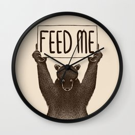 Feed Me Bear Wall Clock