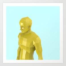 man of facets Art Print