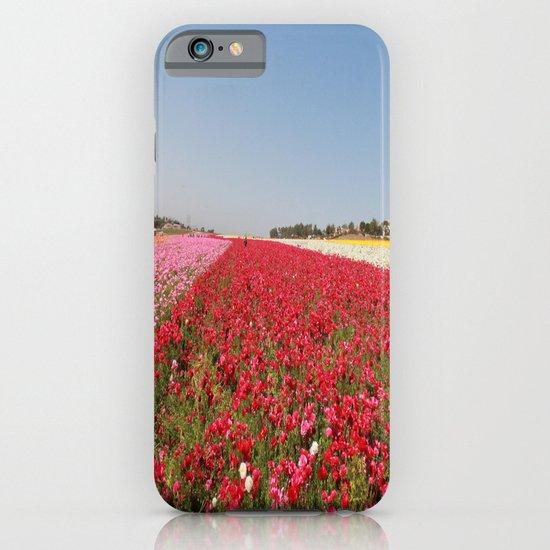 Flower fields iPhone & iPod Case