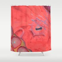 poe Shower Curtains featuring Poe by The Hue Zoo