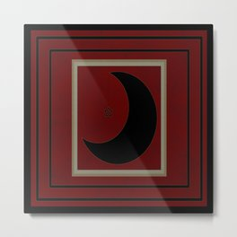 Black Quarter Moon Metal Print