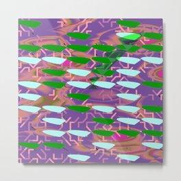 Aqua Green Fish Metal Print