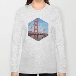 Golden Gate Bridge - Geometric Photography Long Sleeve T-shirt