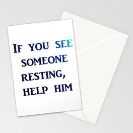 help someone Stationery Cards