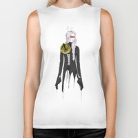 clockwork Biker Tanks featuring Clockwork by SEVENTRAPS