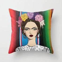 Viva la Frida Throw Pillow