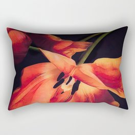 Orange Sentinels Rectangular Pillow