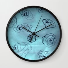 flowers in the sky Wall Clock