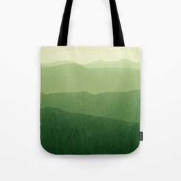 gradient landscape green Tote Bag