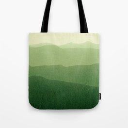 gradient landscape green Tote Bag