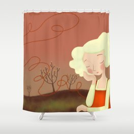 The end of my heart_02 Shower Curtain