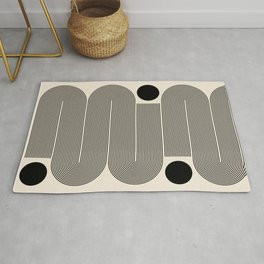 Abstraction_LINE_BLACK_DOT_VISUAL_ART_Minimlism_001A Rug