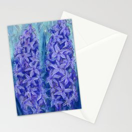 Hyacinths, violet version Stationery Cards