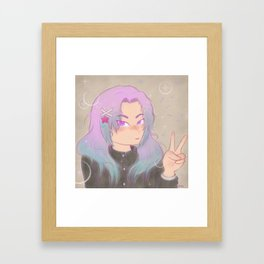 Shoujo Sparkle Framed Art Print