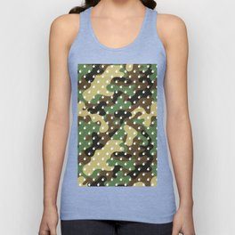 CAMO & WHITE BOMB DIGGITYS ALL OVER LARGE Unisex Tank Top