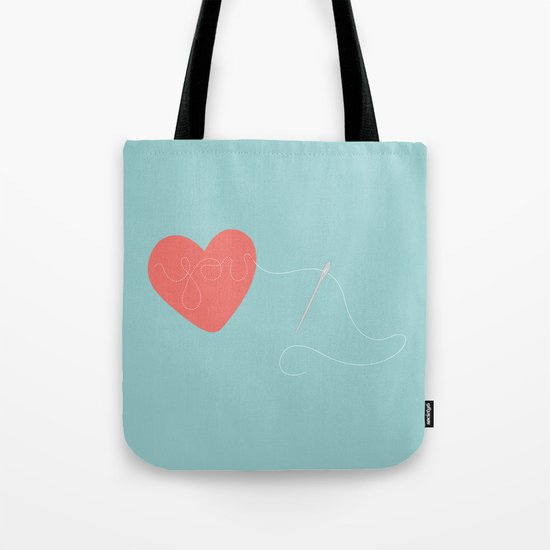Stitched Heart Tote Bag