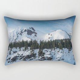 Mount Price Covered in Snow in Garibaldi Provincial Park Rectangular Pillow