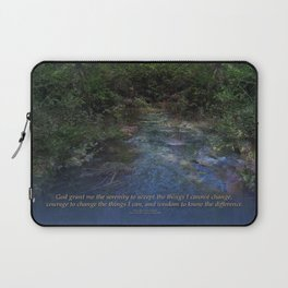 Serenity Prayer Blue Creek Laptop Sleeve