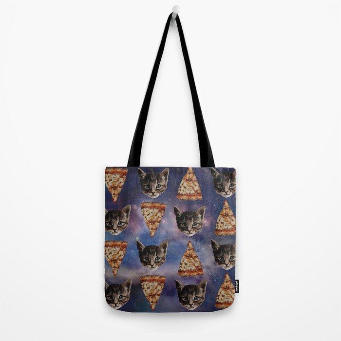 Kitten Pizza Galaxy  Tote Bag