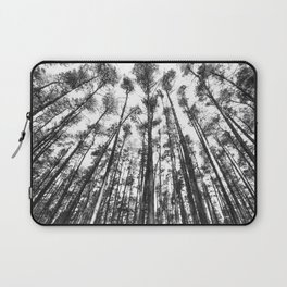 landscape photography  - forest,  black and white trees Laptop Sleeve