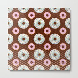 CUTE DONUTS PATTERNS 507 Metal Print