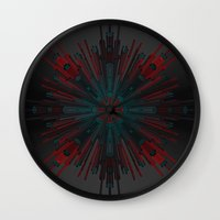 cyberpunk Wall Clocks featuring Nucleotid by Obvious Warrior