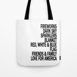 Components of a Fantastic 4th of July - Happy Independence Day! Tote Bag
