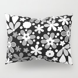 Retro. Floral motifs 4 Pillow Sham