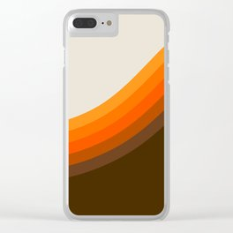 Golden Horizon Diptych - Right Side Clear iPhone Case