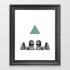 ⊕ Green Angels ⊕ Framed Art Print