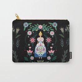 Folk Art Forest Fairy Tale Fraulein Carry-All Pouch