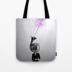 horn player Tote Bag